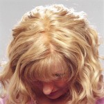 Monofilament top, with lace front, can be parted in any direction. Sheer top.